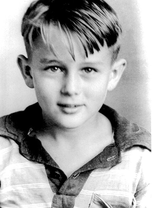 Vintage picture of James Dean as a child