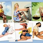 Vintage pin-up models & calendar girls of the '40s & 50s