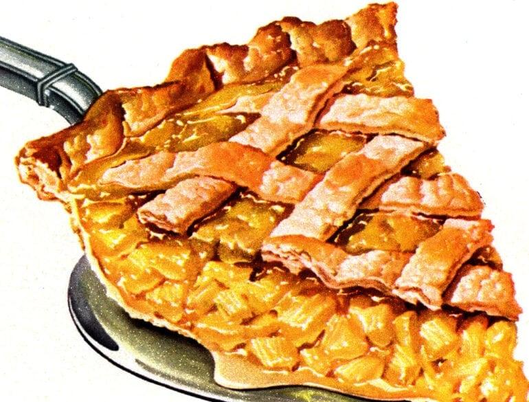 Vintage pineapple pie recipe from 1950