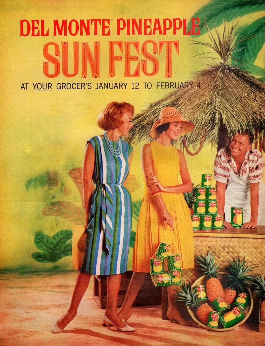 Vintage pineapple sun fest recipe ideas (1961)