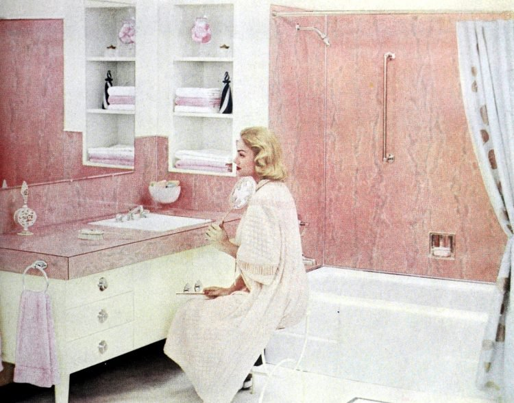 Vintage pink bathrooms from the 1950s (1)