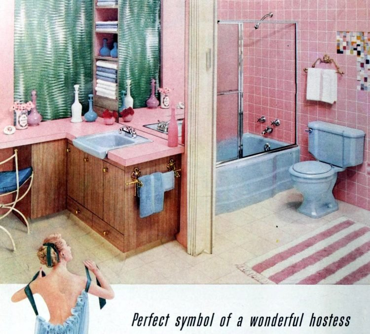 23 vintage pink bathrooms: See some wild bubblegum-era ...