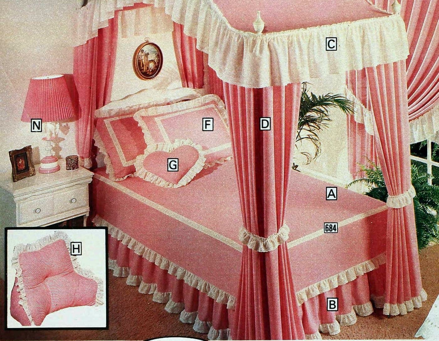 Vintage pink canopy beds from 1978 catalog (4)