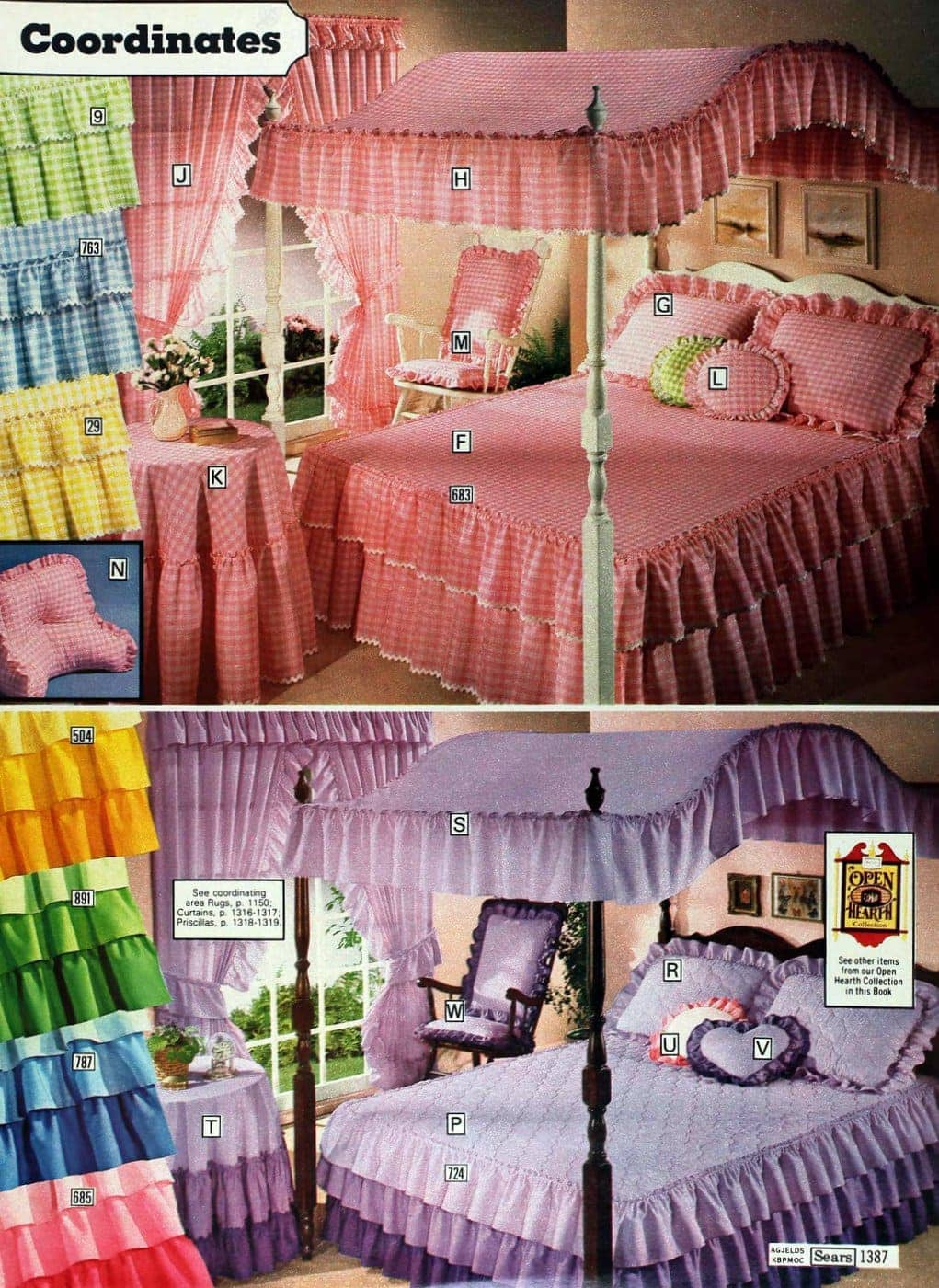 Vintage pink canopy beds from 1978 catalog (5)
