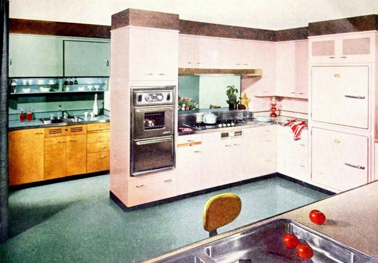 Vintage pink kitchen decor for the 50s home (3)