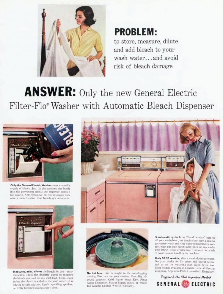 Vintage pink washer from 1959-1960