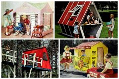 Vintage play houses and forts Old-fashioned fun for kids