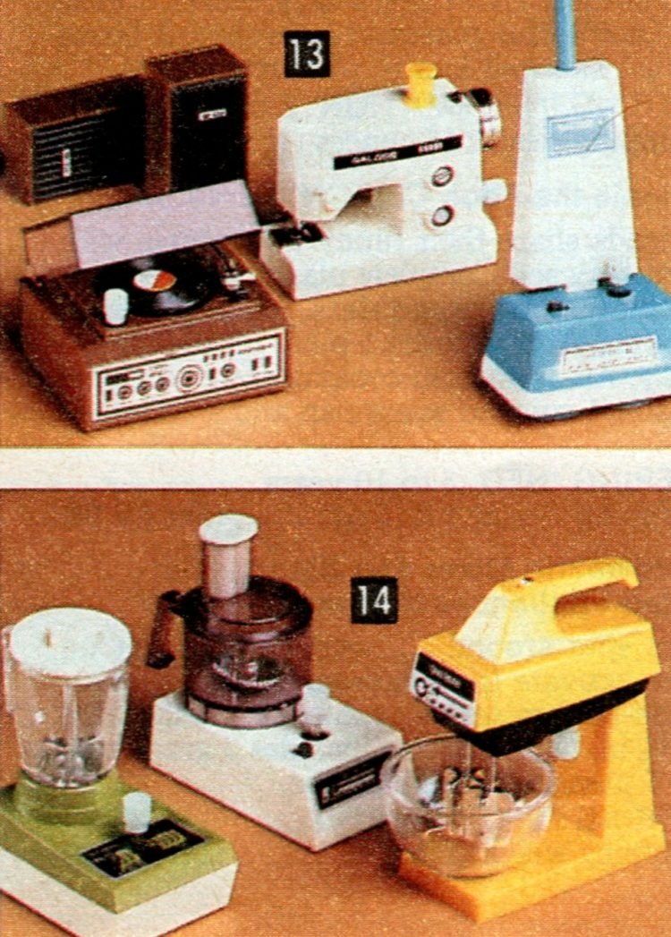 Vintage play kitchen appliances from the 80s