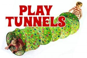 Vintage play tunnels for kids - Fun from the 1970s