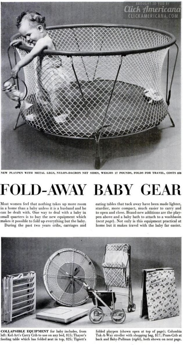 Vintage playpens - Fold-away baby gear from 1955 (2)