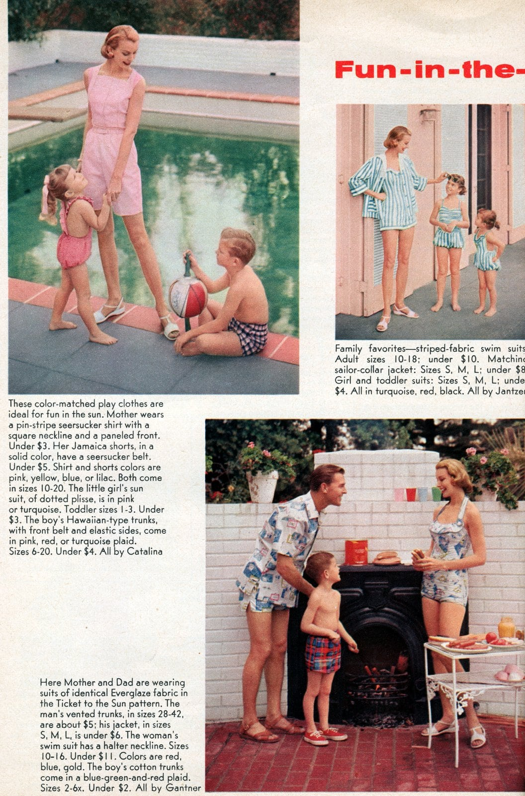 Vintage playwear - summer fashhions for women from the 1950s (1)