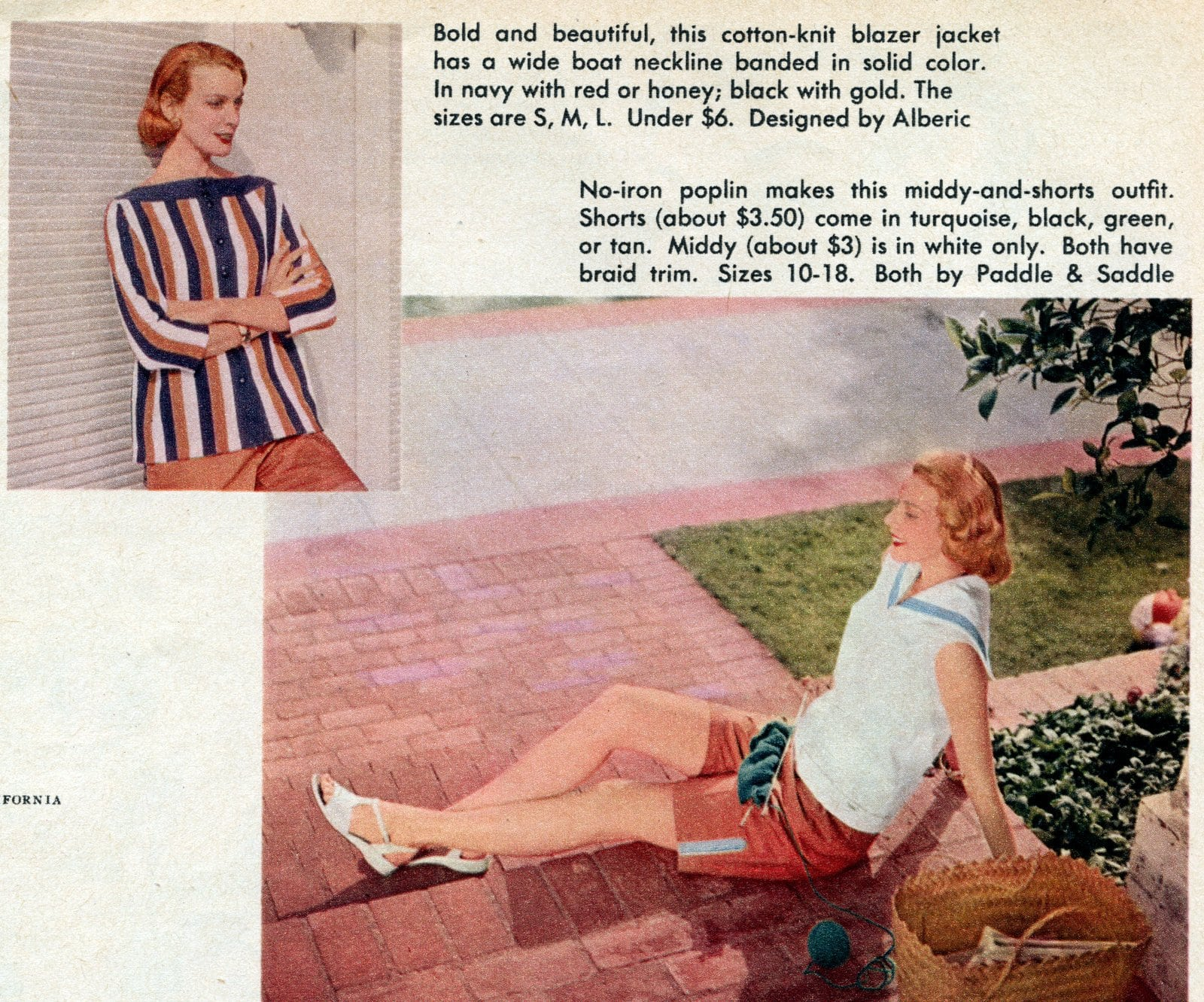 Vintage playwear - summer fashhions for women from the 1950s (3)