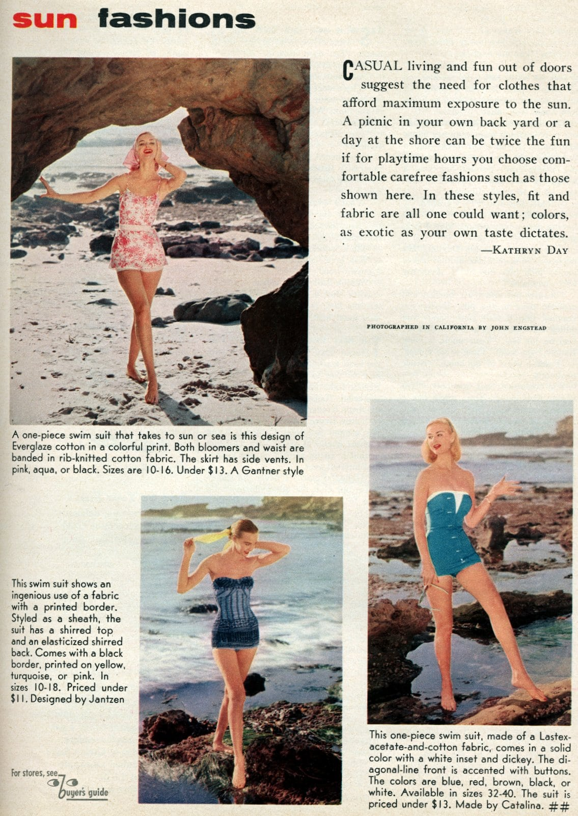 Vintage playwear - summer fashhions for women from the 1950s (4)