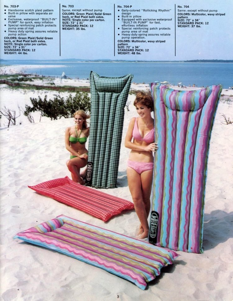 Vintage pool floats and air mattresses from the 60s (2)