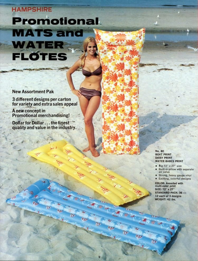 Vintage pool floats and air mattresses from the 60s (5)