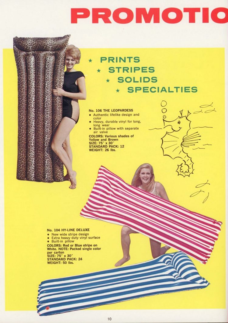 Vintage pool floats and air mattresses from the 60s (6)