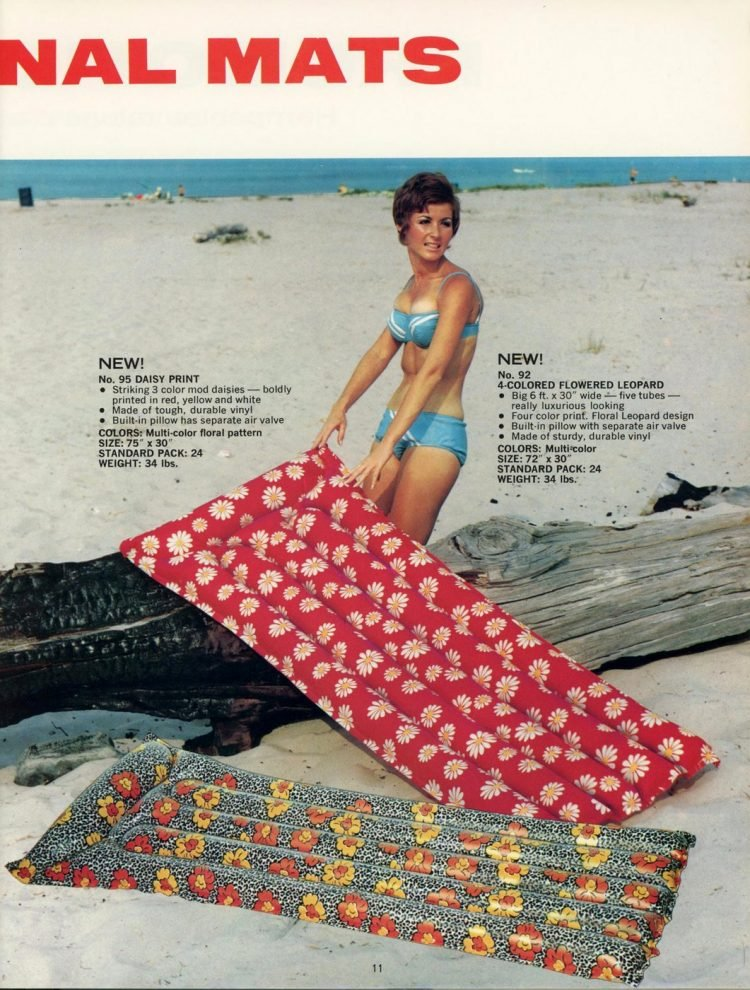 Vintage pool floats and air mattresses from the 60s (7)