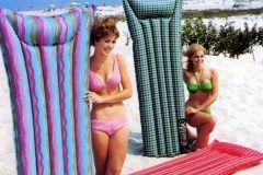 Vintage pool floats and retro air mattresses from the 60s
