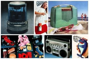 Vintage portable radios from the 1950s to the 1980s