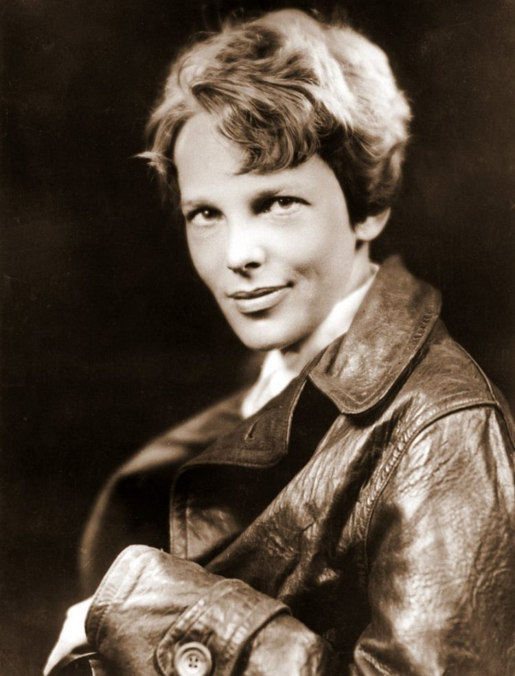 Vintage portrait of Amelia Earhart