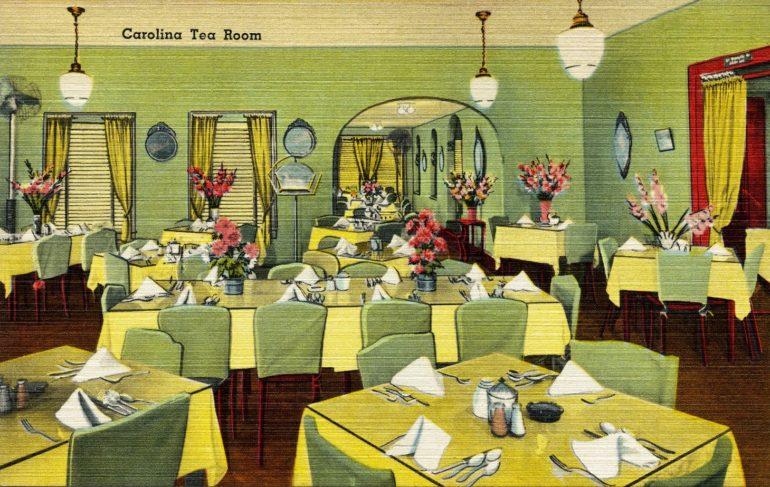 Vintage postcard - Carolina tea room