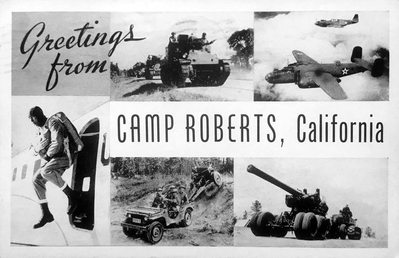 Vintage postcard - Greetings from Camp Roberts California