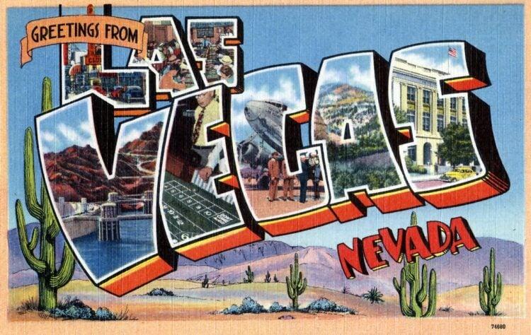 Vintage postcard - Greetings from Las Vegas, Nevada