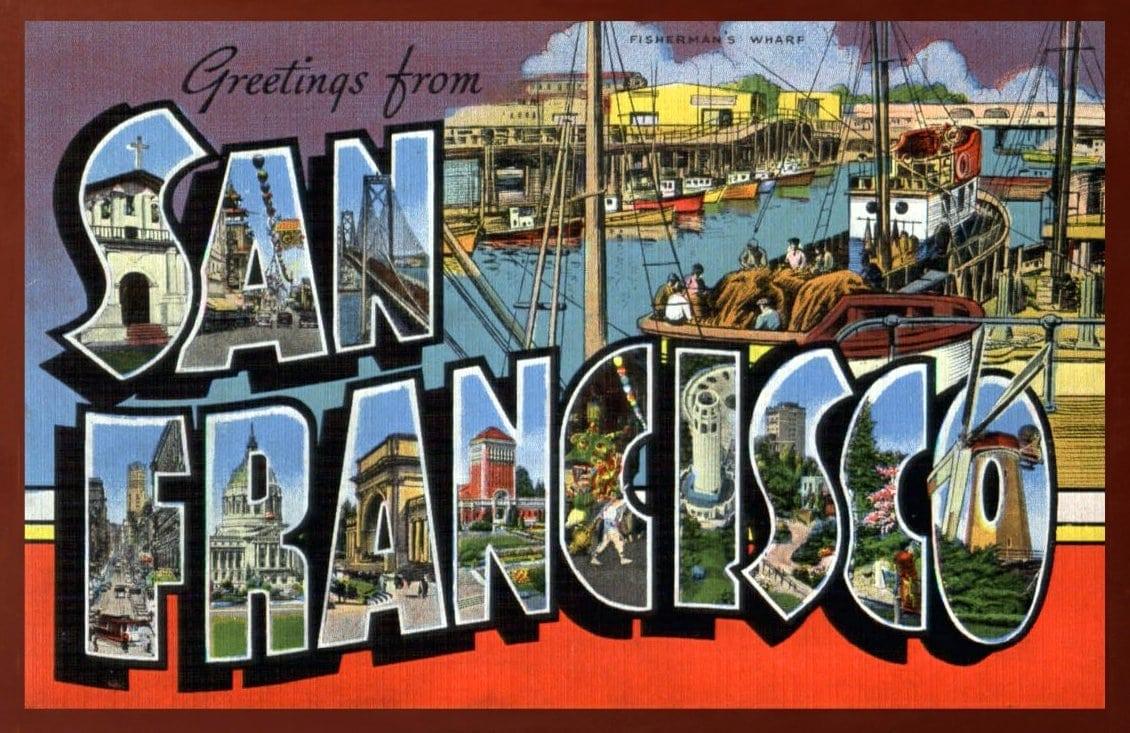 Vintage postcard - Greetings from San Francisco