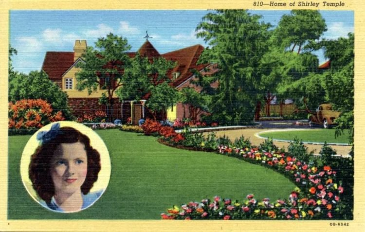 Vintage postcard - Home of Shirley Temple