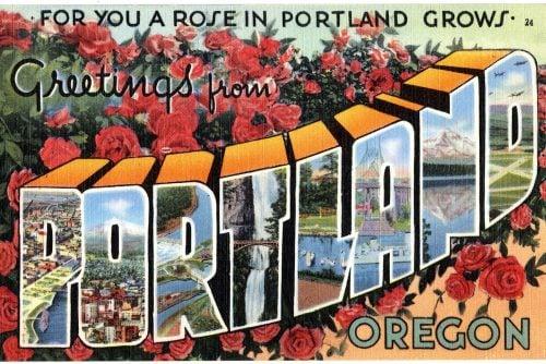 Vintage postcard of Portland Oregon