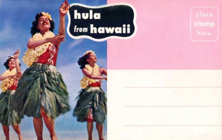 Vintage postcards of Hawaii from the 1950s