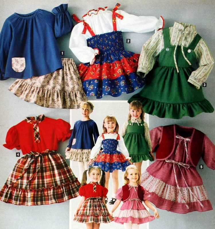 Vintage prairie-style clothes for little girls from 1979 (2)