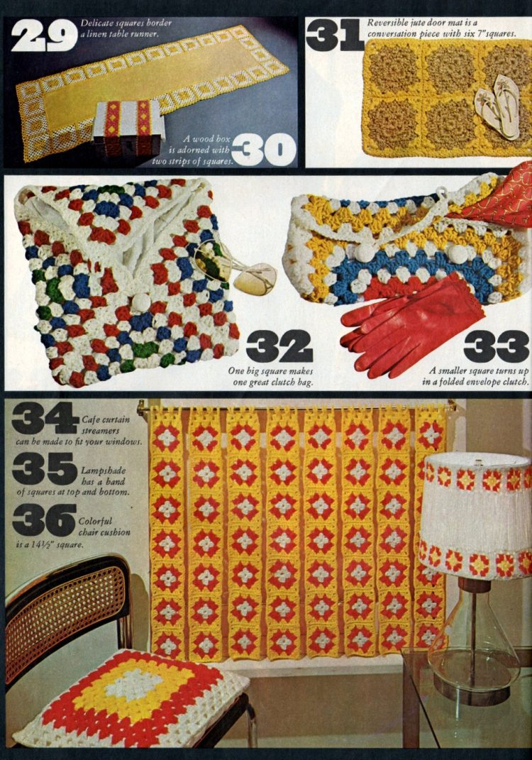 Vintage projects to crochet with granny squares 1970s (1)