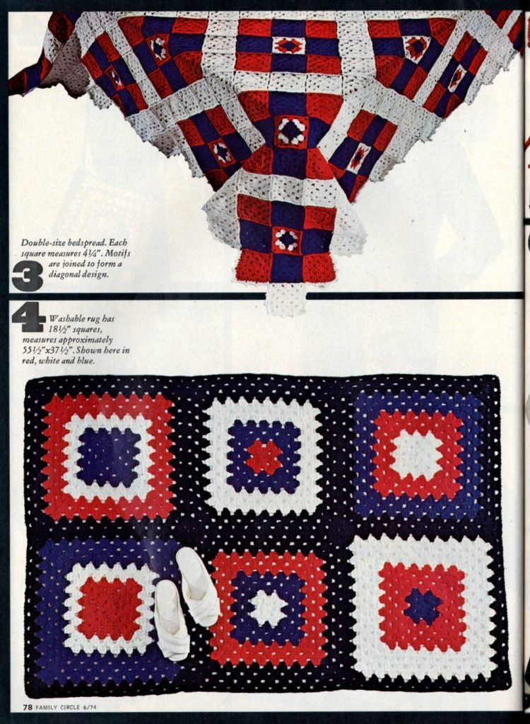Vintage projects to crochet with granny squares 1970s (3)