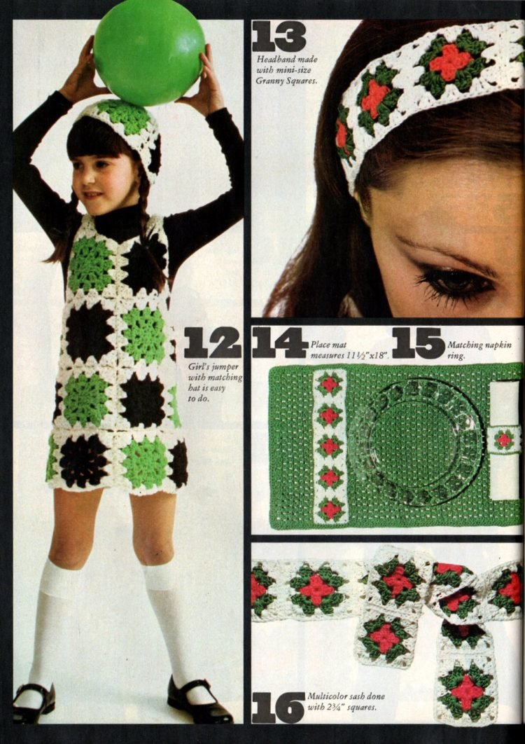 Vintage projects to crochet with granny squares 1970s (4)