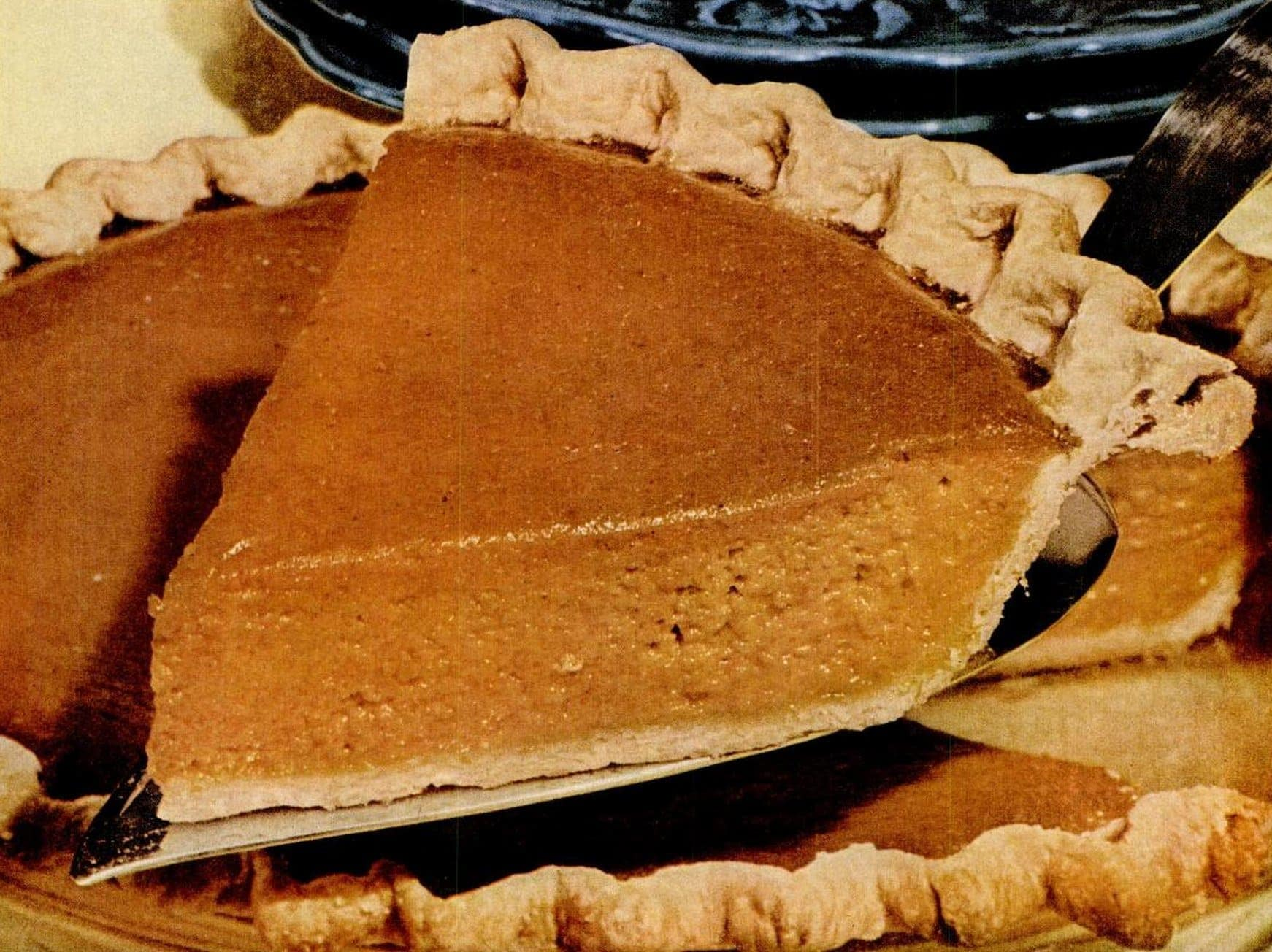 Vintage pumpkin pie recipe with Vegetable oil pie crust