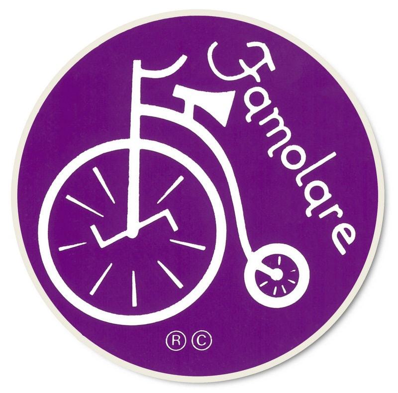Vintage purple Famolare Shoes sticker