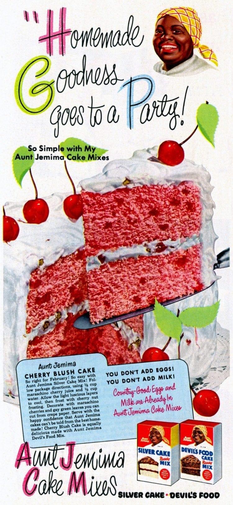 Cherry Blush Cake recipe (1952)