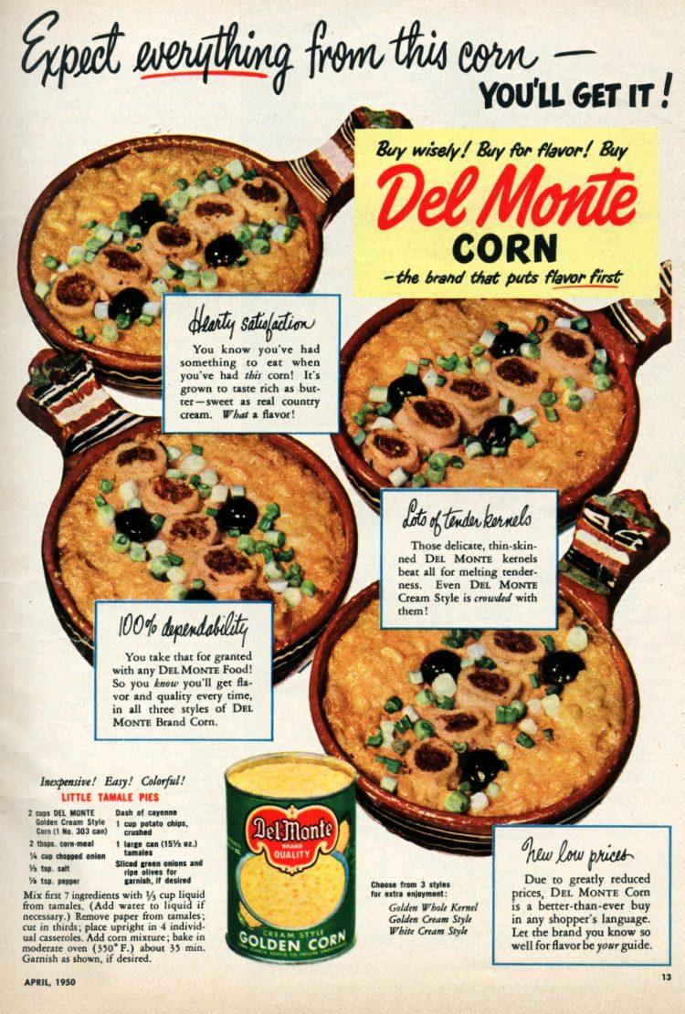 Vintage recipe - Little tamale pies (1950)