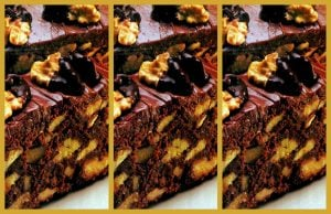 Vintage recipe - Raspberry-walnut brownies (1989)
