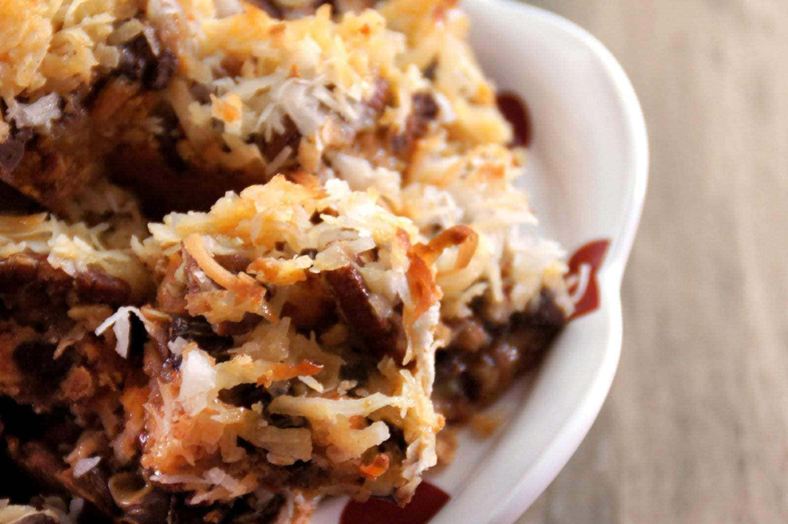 Vintage recipe for 7-layer bars