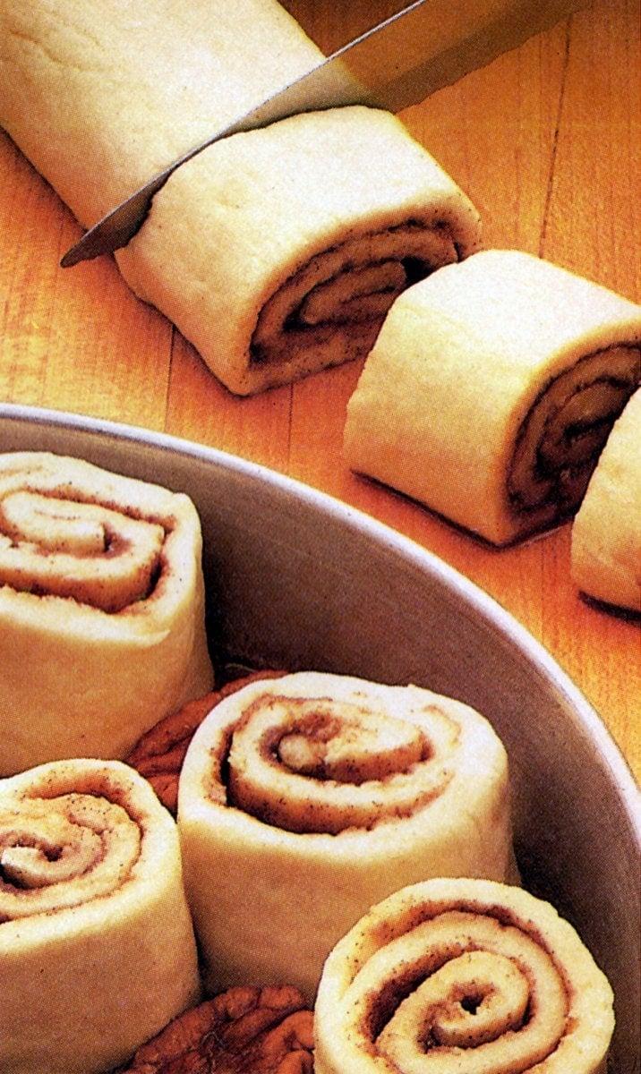 Vintage recipe for Bisquick caramel rolls