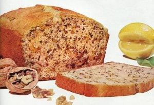 Vintage recipe for lemon nut bread (1959)