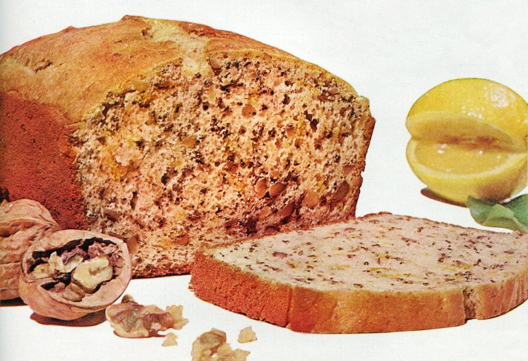 Vintage recipe for lemon nut bread (1959)