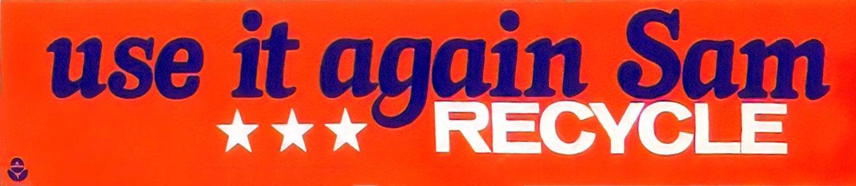 Vintage recycling bumper sticker