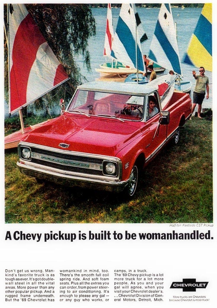 See The 69 Chevy Pickups Fleetsides Stepsides Longhorns Campers All With Chevrolet S Bold Front End Design Click Americana
