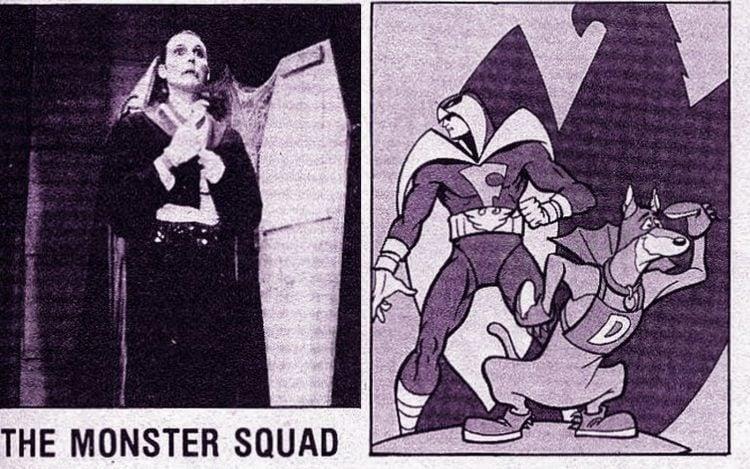 Vintage retro TV shows - Monster Squad and cartoons