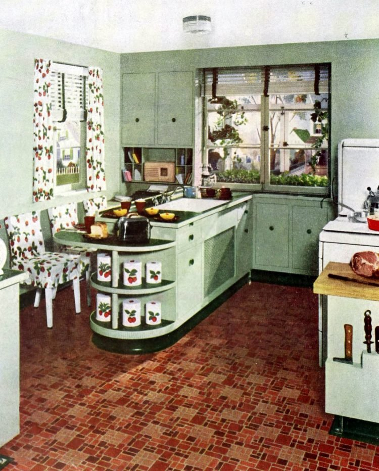 Vintage rounded kitchen countertops design features (2)