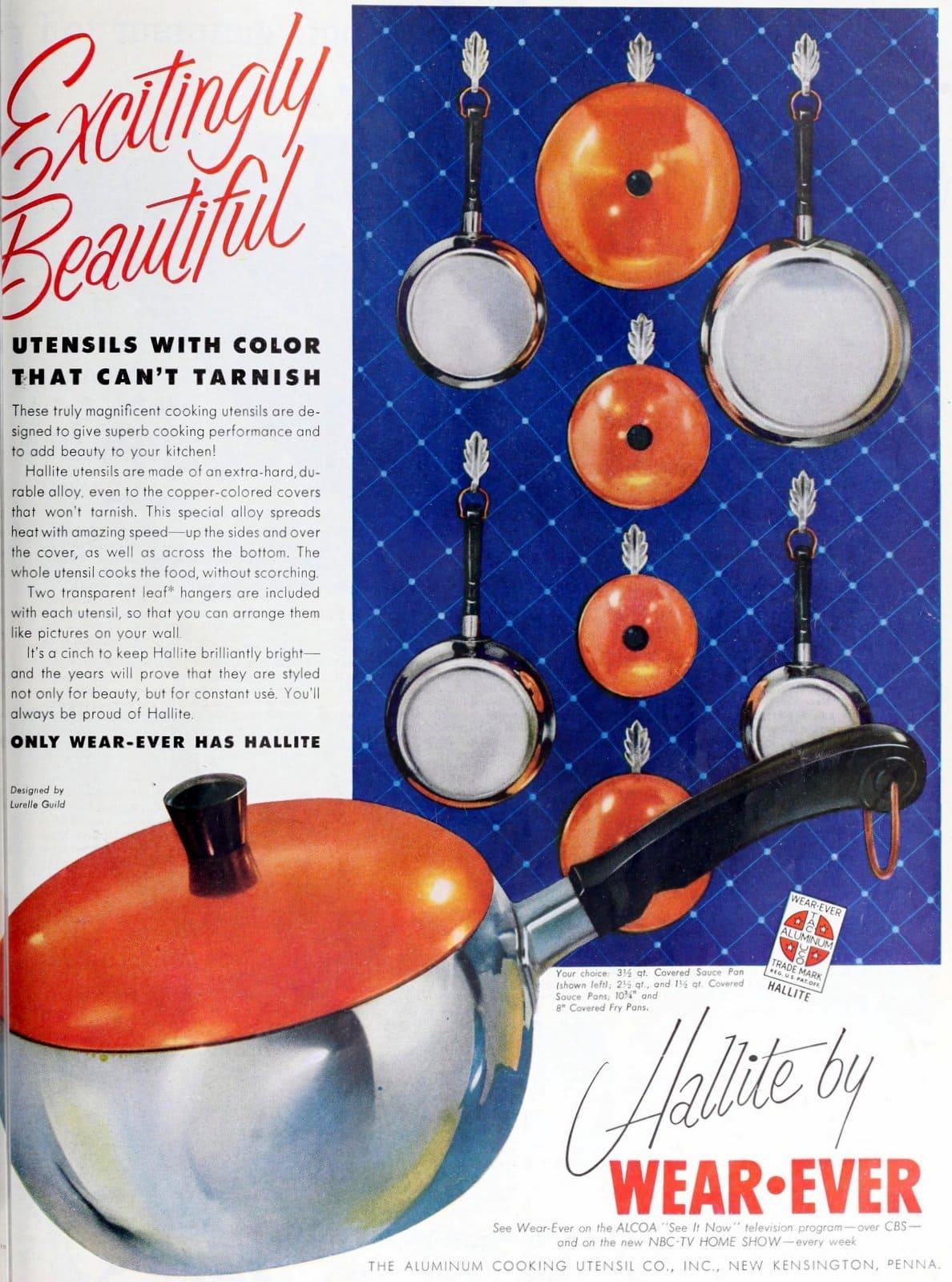 Vintage saucepans - Hallite by Wear-Ever (1954)