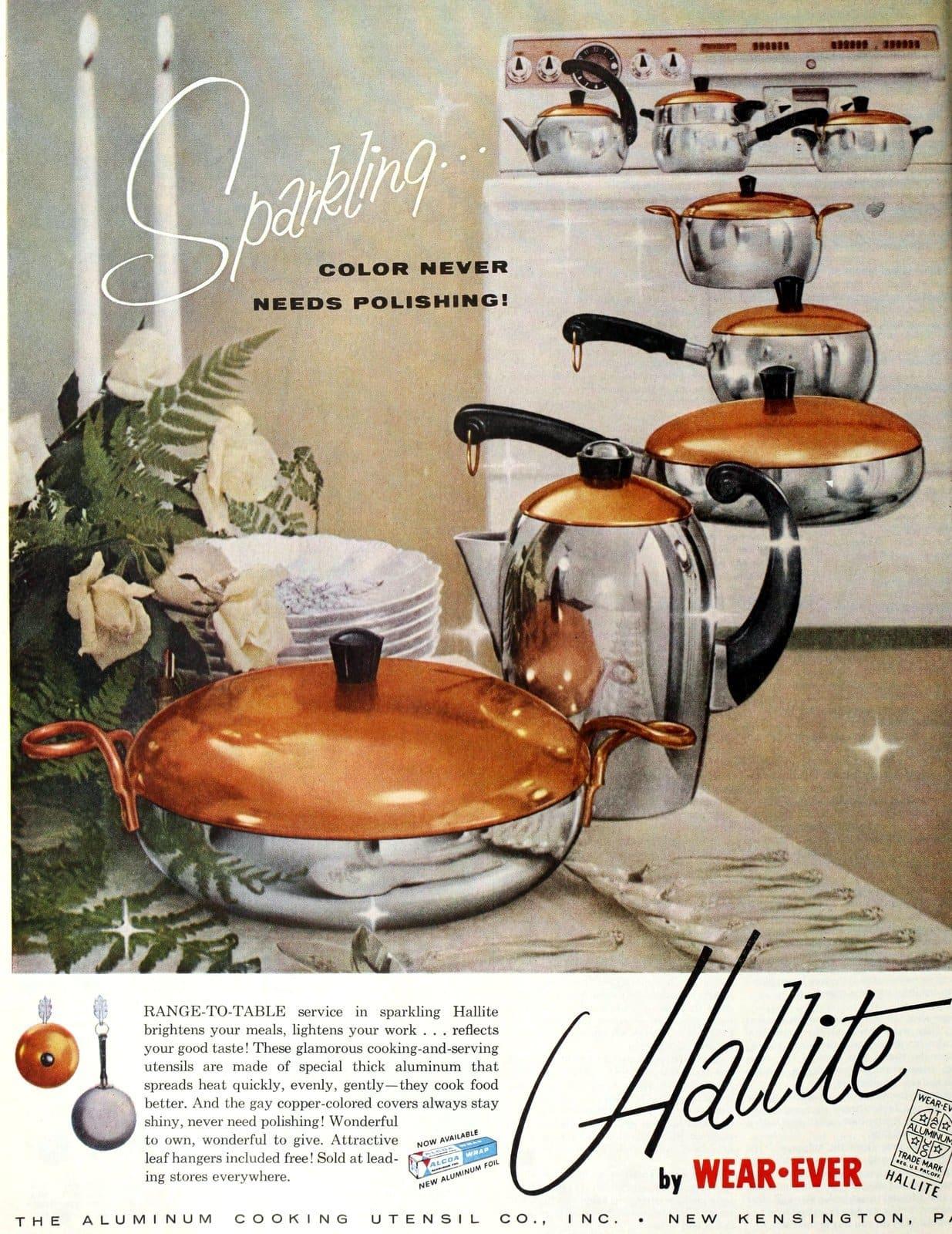 Vintage saucepans - Hallite by Wear-Ever (1957)